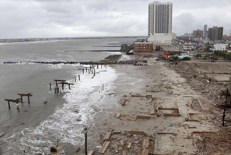 разрушения в Нью-Джерси после тайфуна Sandy, фото