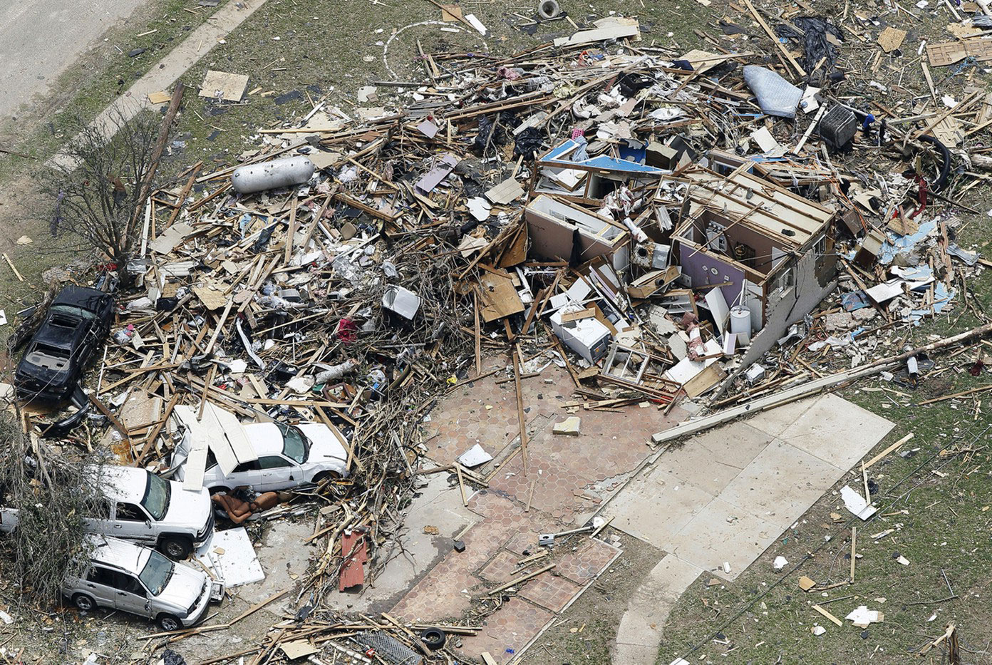разрушения в округе Худ, Техас