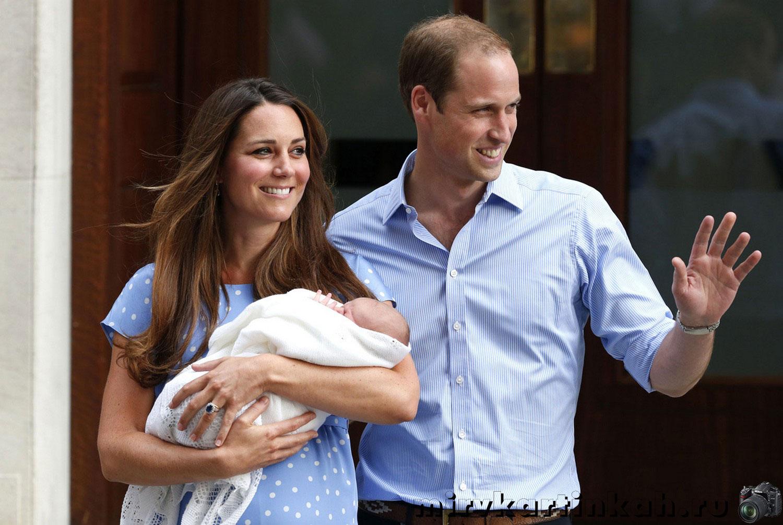 Британский принц Уильям с женой