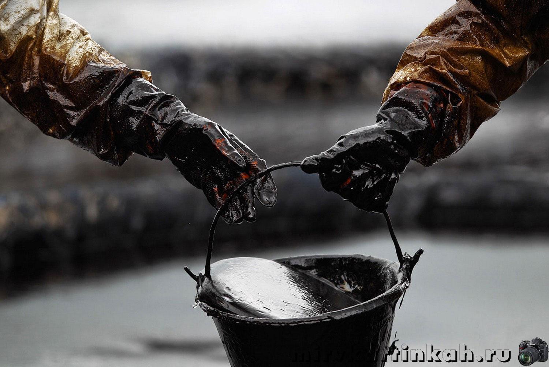 ведро с нефтью