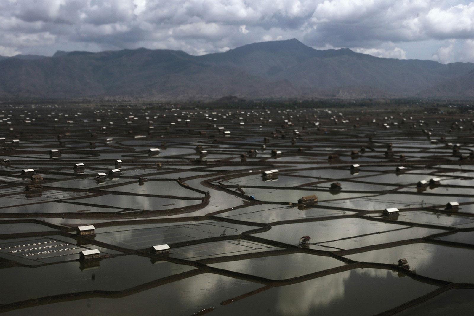 соляная область на окраине Бима