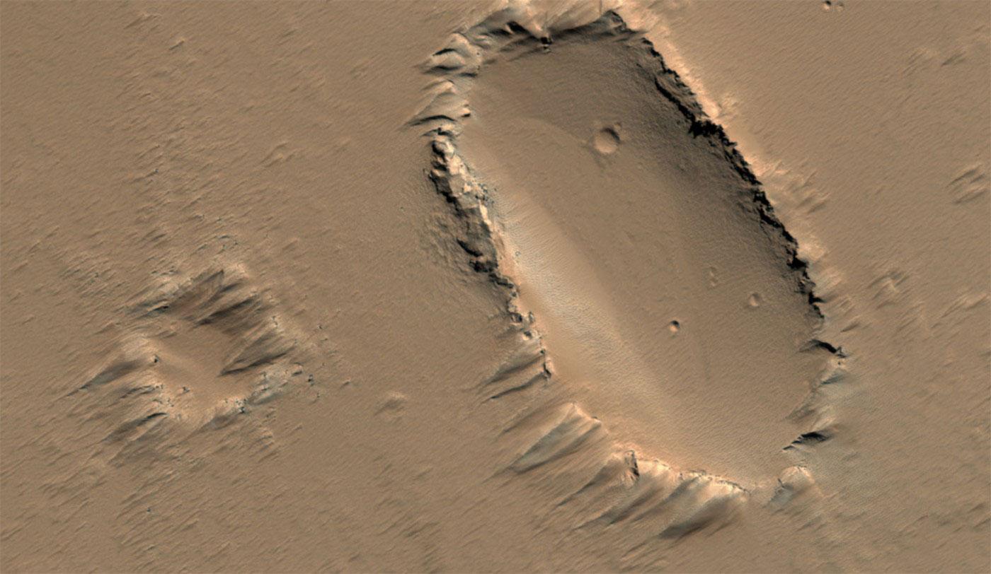 рельеф на поверхности Марса