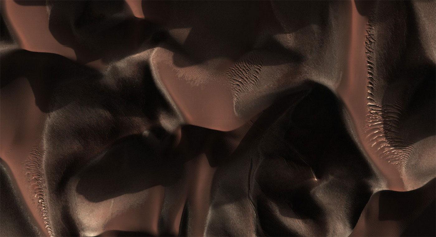 Дюны в кратере Матара