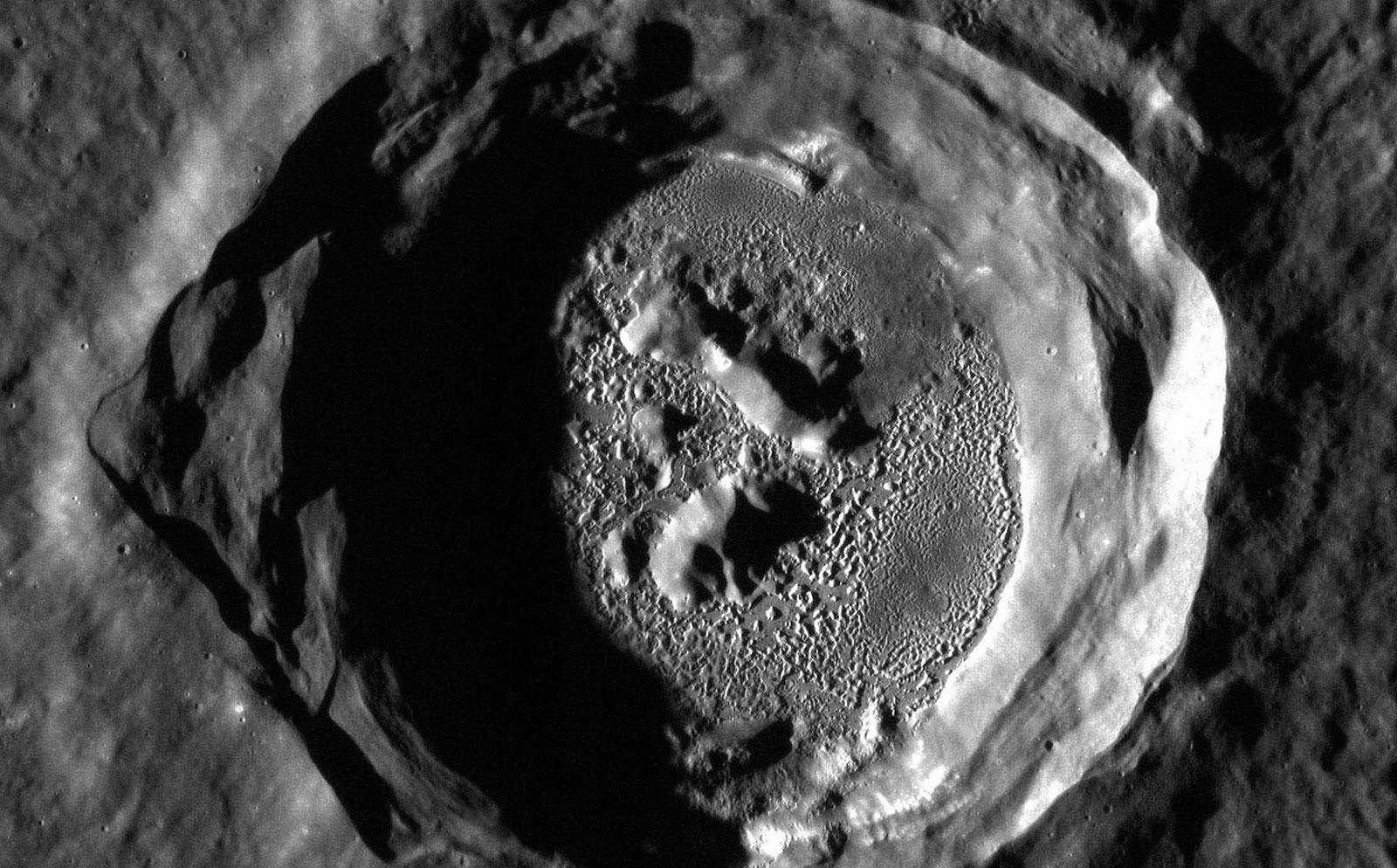впадины на поверхности Меркурия