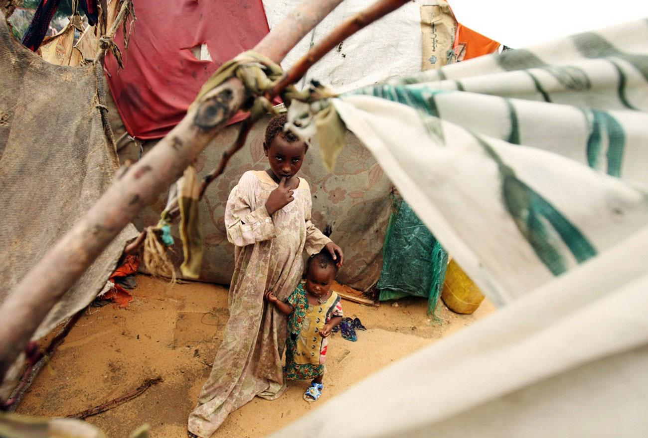в одном из лагерей для беженцев
