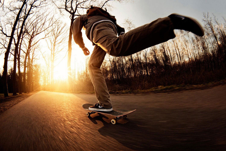 в парке на скейте