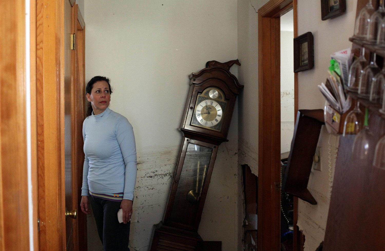 поврежденный дом, фото урагана Сэнди
