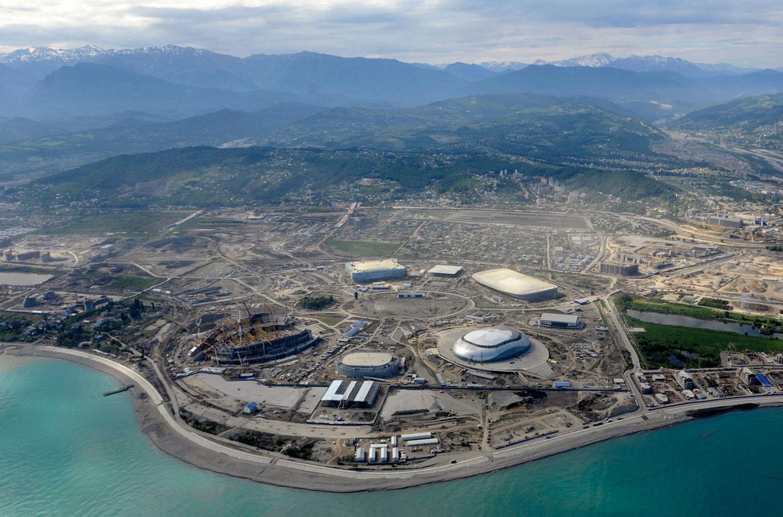строительство Олимпийского парка, фото для олимпиады 2014