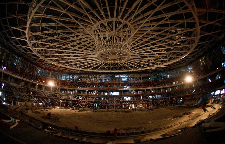 Строительство конькобежного центра в Сочи, фото