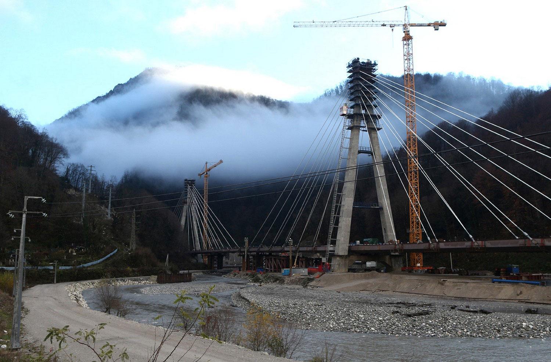 Строительство железнодорожной линии для сочинских олимпийских игр, фото