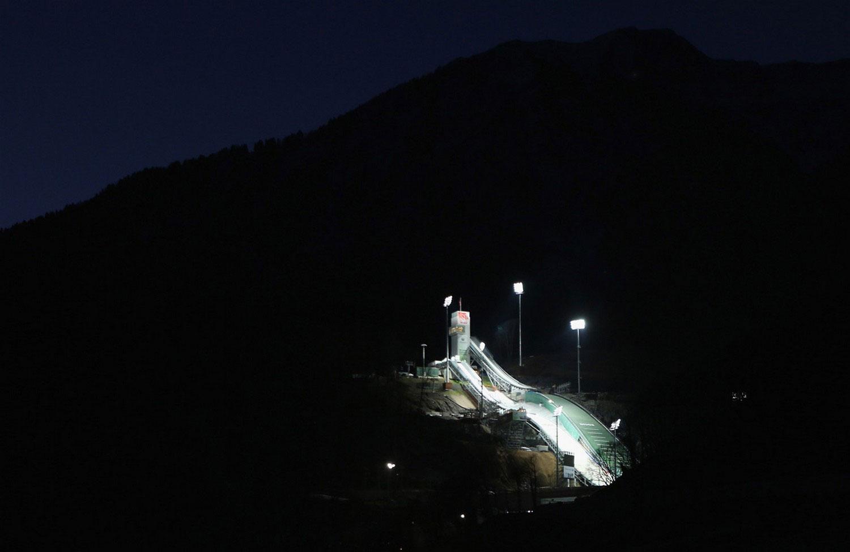 Строительство горнолыжных трамплинов, фото из Сочи