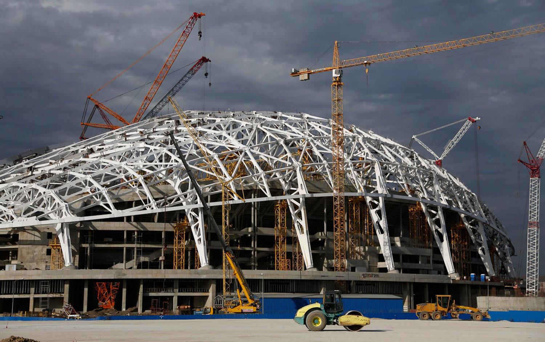 строительство в Олимпийском парке, фото