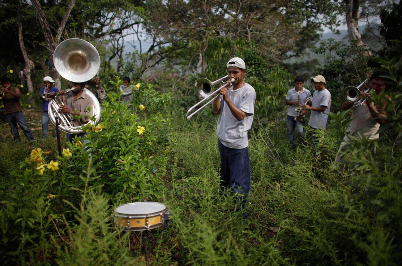 музыканты на похоронной церемонии, фото