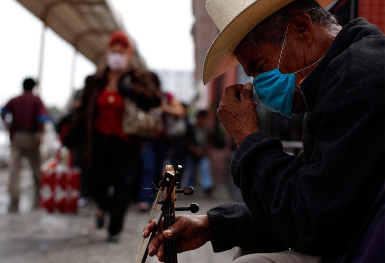 Уличный музыкант, фото
