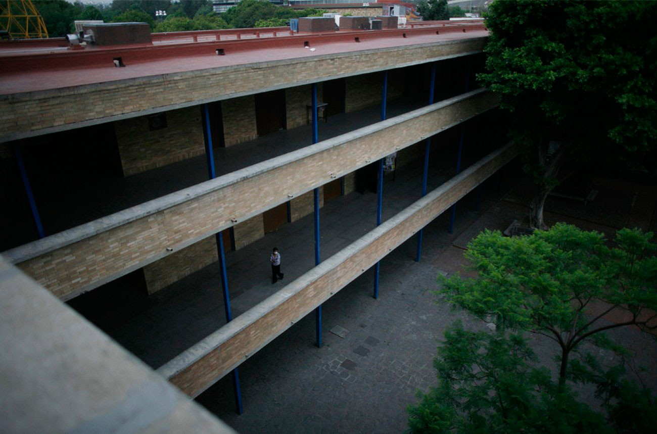здание Национального автономного университета в Мехико, фото