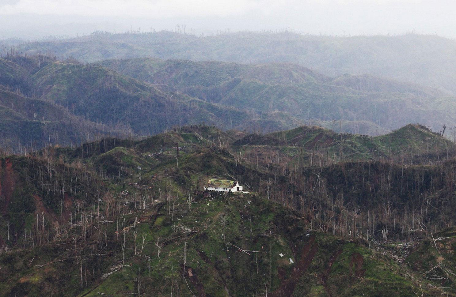 долина Компостела после тайфуна Бофа