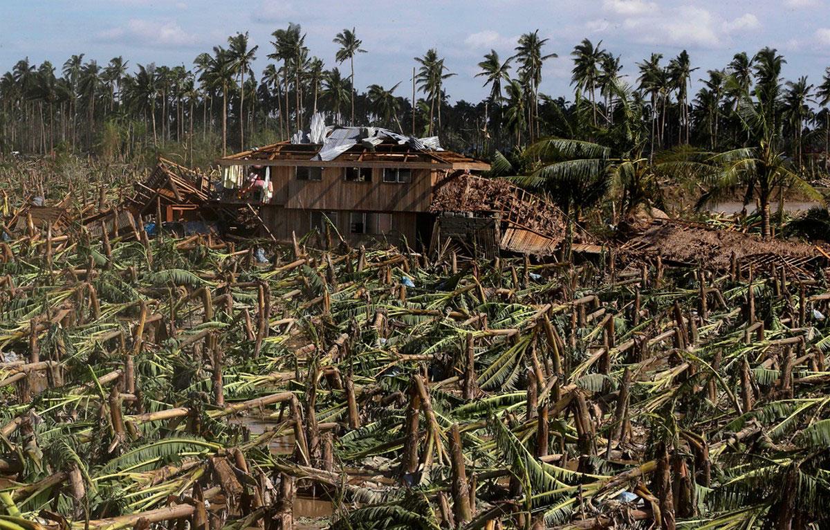 разрушения на юге Филиппин, фото
