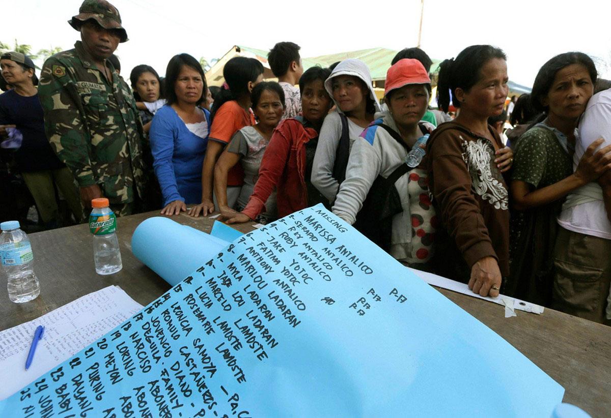 списки пропавших без вести на Филиппинах