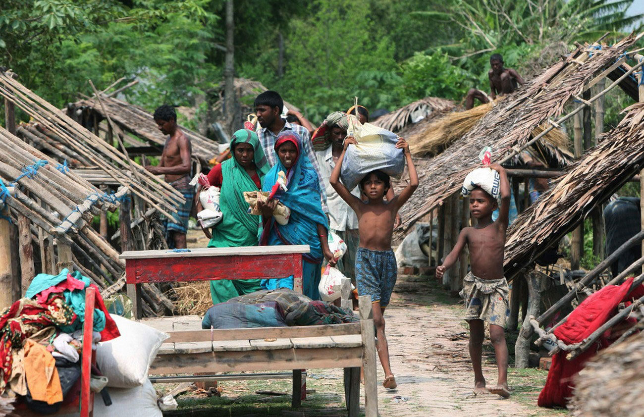 временные дома после мощного циклона, фото