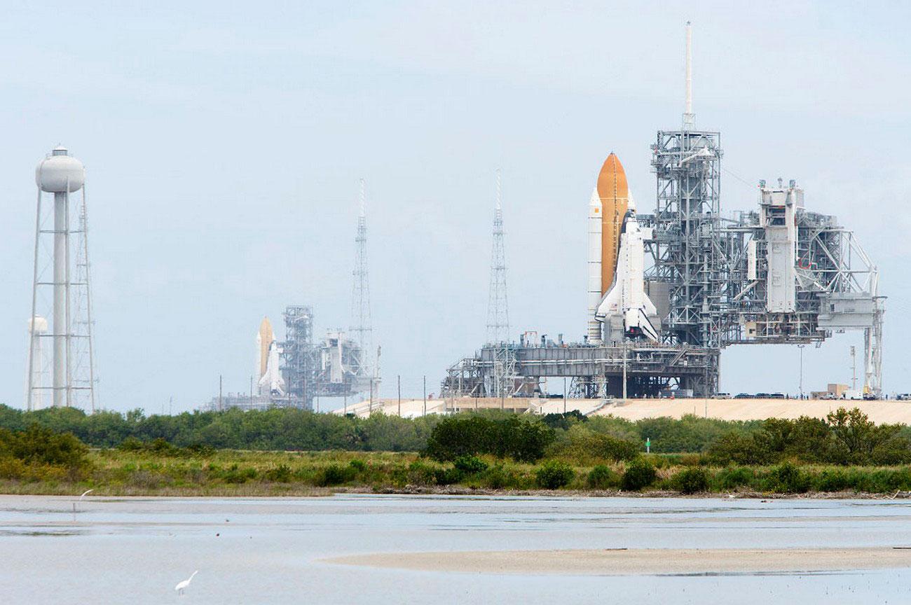 Космические корабли на пусковых площадках, фото