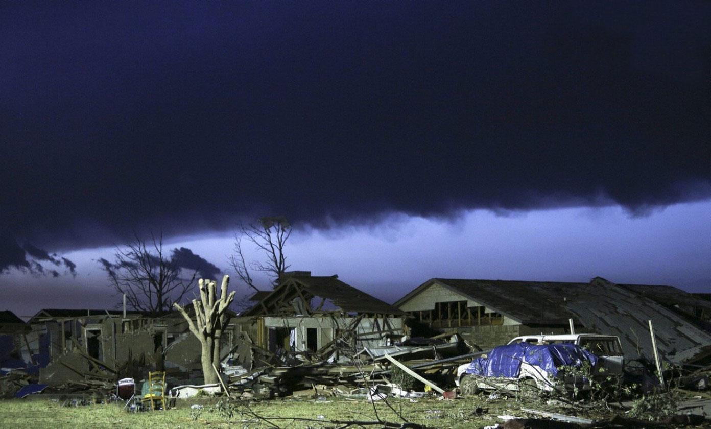 разбушевавшаяся стихия в Оклахоме