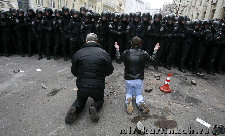 мужчины на коленях