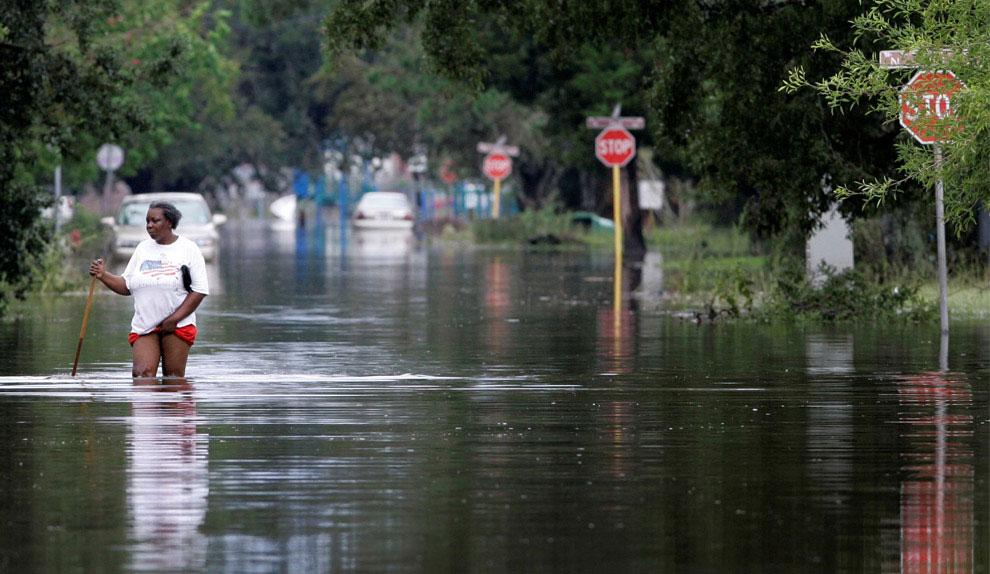 затопленные окрестности Оринджа, США, фото