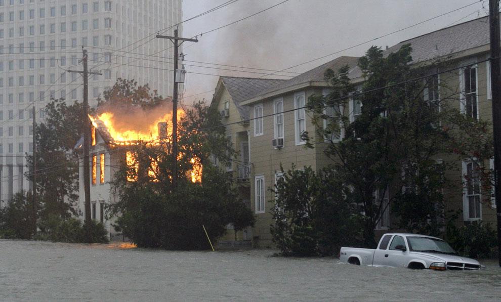 затопленные районы города Галвестон, США, фото