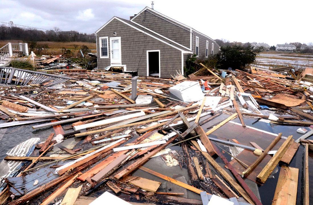отключено электричество, есть жертвы, фото урагана Сэнди в США