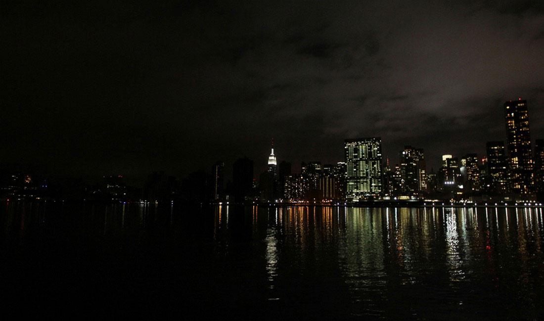 шторм в южной части Манхэттена, фото урагана Сэнди в США