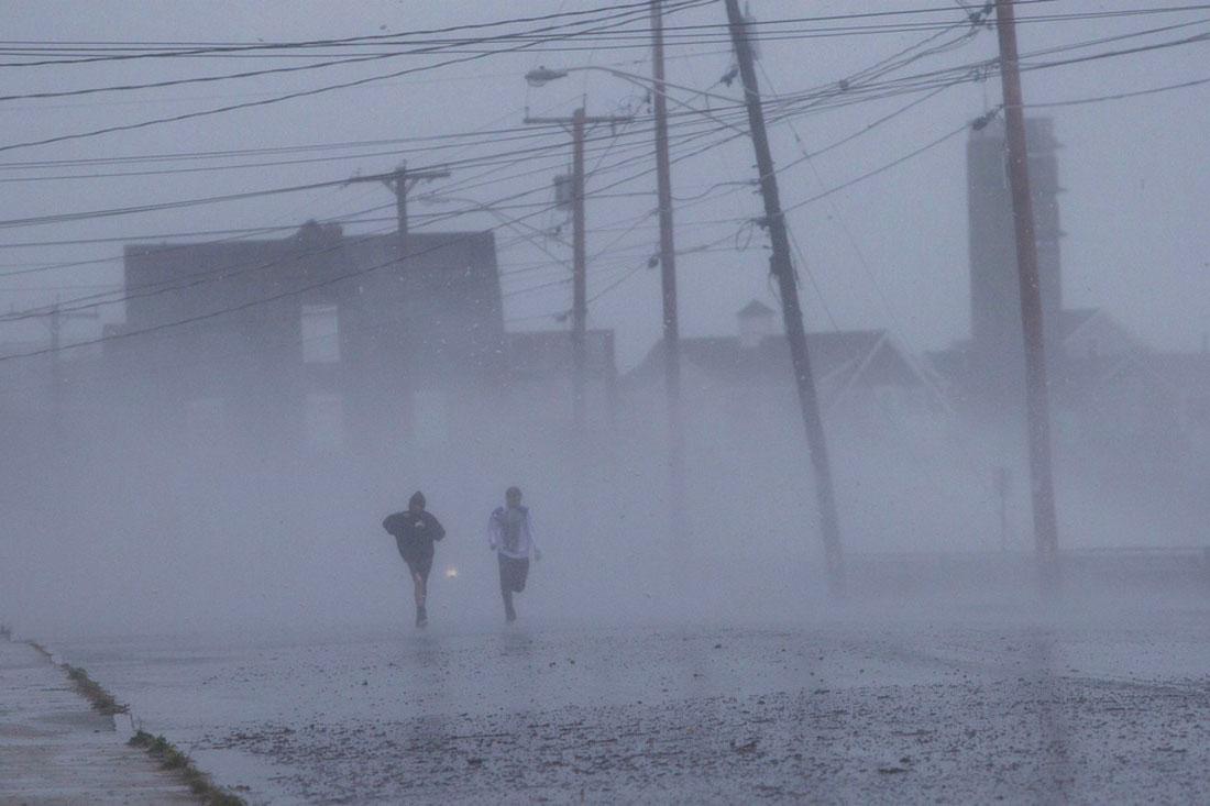 Массачусетс, фото стихийного бедствия в Нью-Йорке