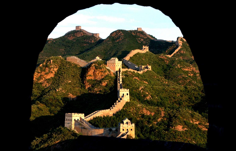 Часть Великой стены в Китае, фото