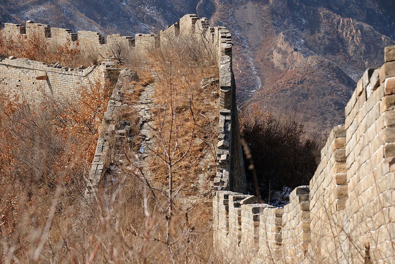 Часть Великой стены в Пекине, фото