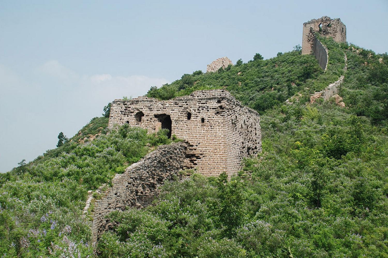 разрушения некоторых частей стены в Китае, фото