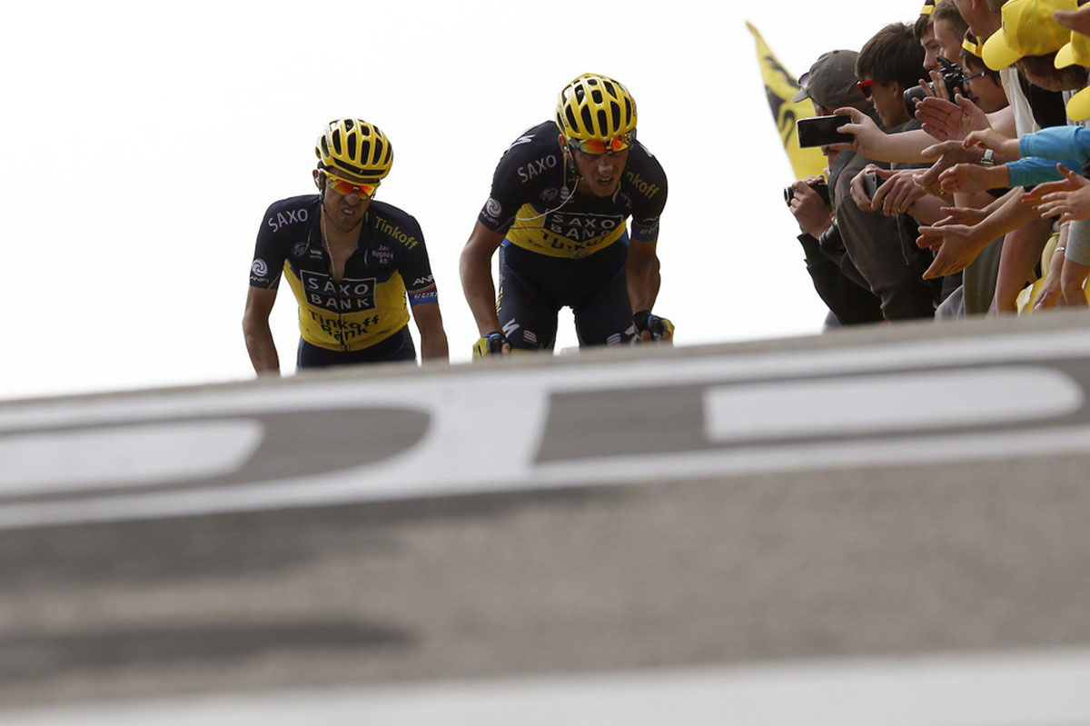 испанские гонщики на тур де франс