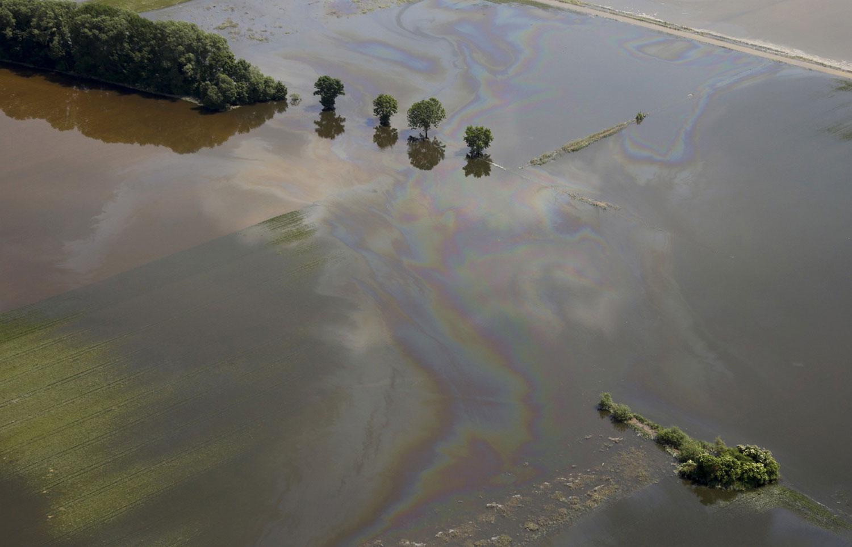 нефтяные пятна на воде