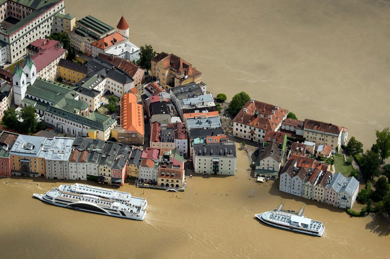 Наводнение в историческом городе