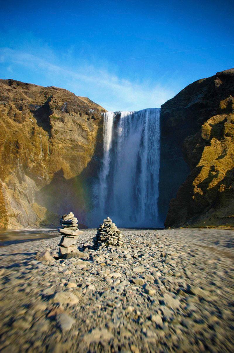 водопад Исландии