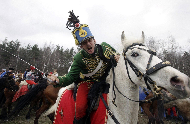 Актеры в военной форме венгерской и австрийской династии Габсбургов