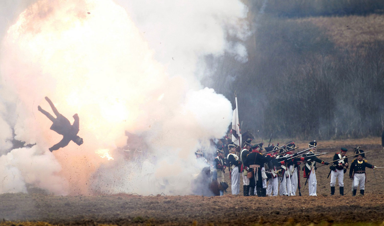 инсценировка сражения 1812 года на Березине