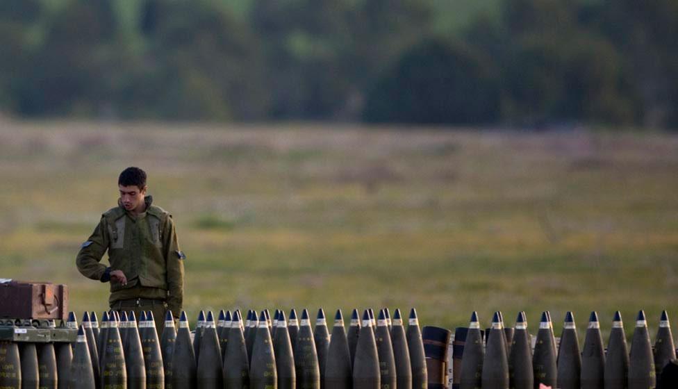 Израильские артиллерийские снаряды, фото
