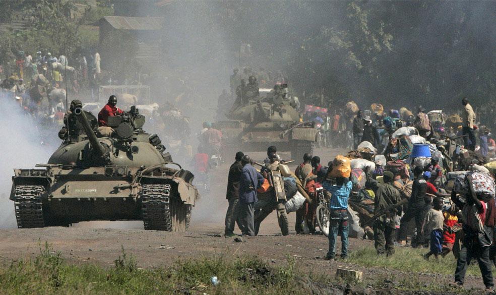 беженцы в провинции Гома, Конго, фото