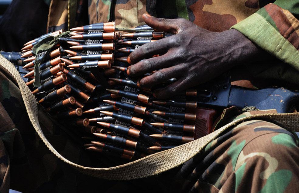 оружие и боеприпасы, захваченное во время боя, Конго, фото