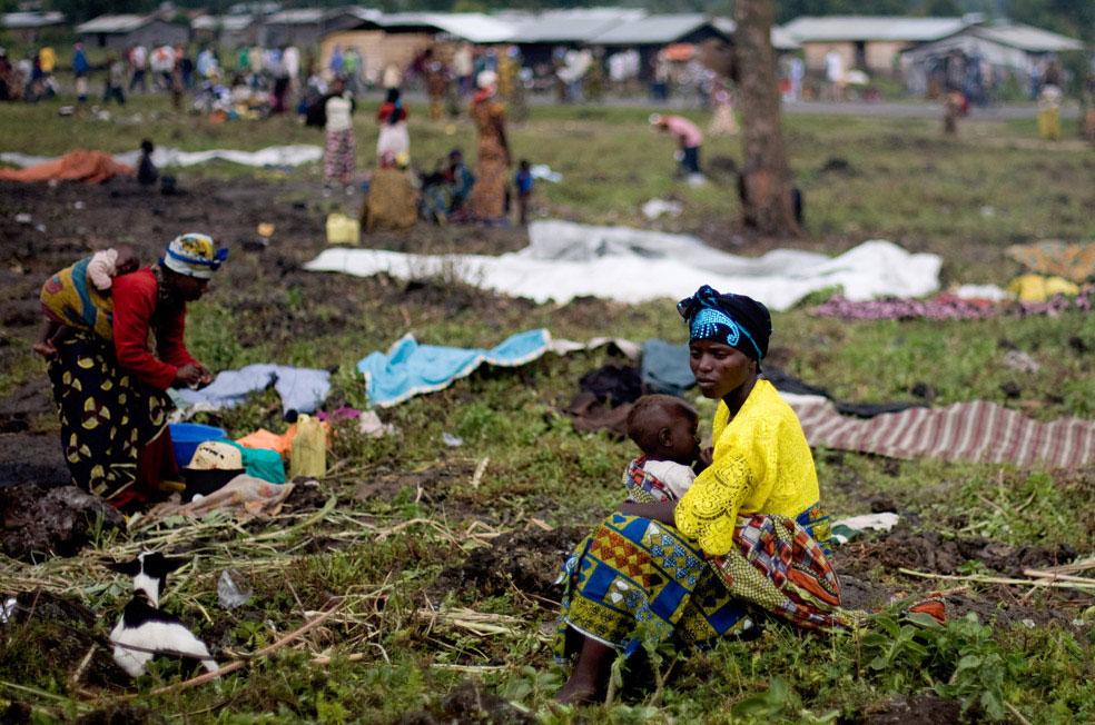 беженцы в Кибати, Конго, фото