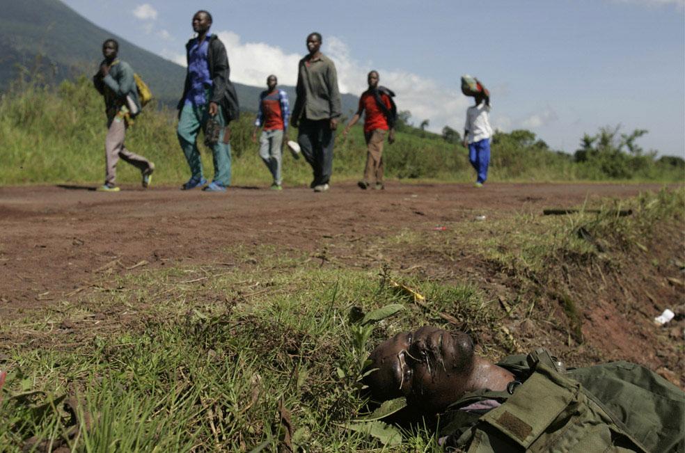 измученные войной беженцы, Конго, фото