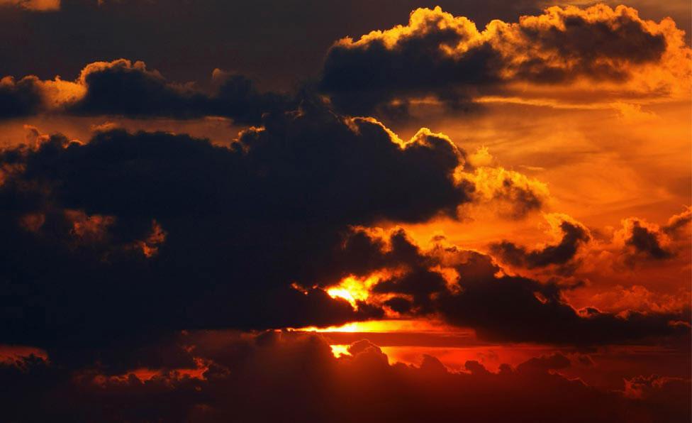 закат над палестинской территорией, фото
