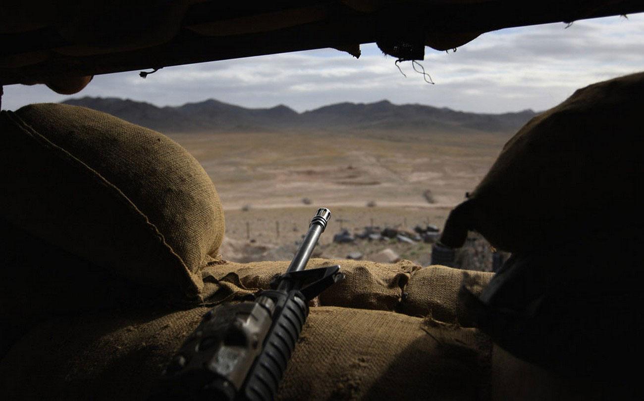 на наблюдательном пункте в Афганистане, фото войны