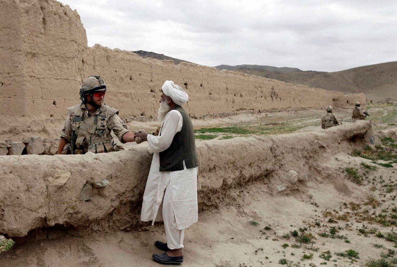 в оплоте талибов в районе Аргандаб, фото войны