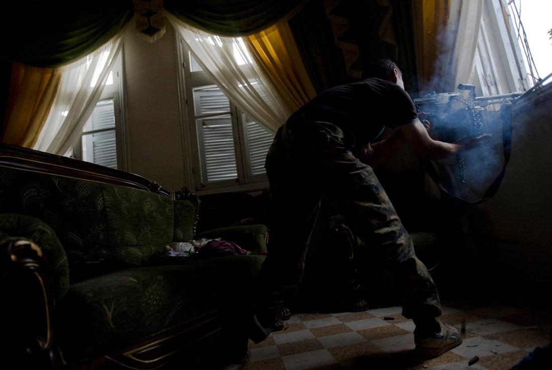 Повстанческий пулеметчик, фото, Сирия