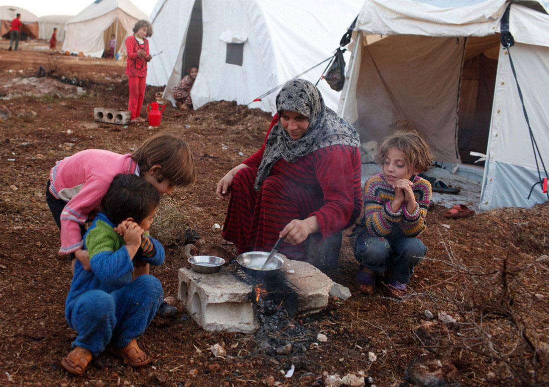 Лагерь для беженцев, фото, Сирия